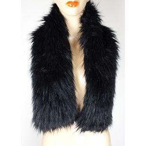 Black Faux Fur Scarf Scarves Wrap Womens